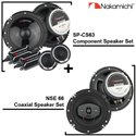 "2 in 1 - NAKAMICHI SP-CS63 6.5"" 2-Way 320W Component Speaker + NSE 66 6.5"" 2-Way 25W RMS 380W Coaxial Speaker Package Set"