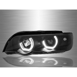 BMW E53 X5 1999 - 2006 3D LED Angle Eyes Projector Head Lamp [HL-030-BMW]