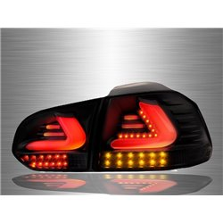 VOLKSWAGEN GOLF MK6 2008 - 2014 Full Smoke LED Light Bar Tail Lamp [TL-198-1]