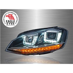 VOLKSWAGEN GOLF MK7 2013 - 2017 EAGLE EYES U-Concept LED Light Bar Projector Head Lamp [HL-171]