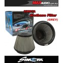 """SIMOTA 3"""", 4"""", 6"""" Fully Stainless Steel Urethane Racing Open Port Air Filter [Silver]"""