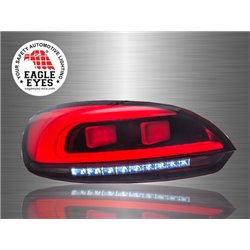 VOLKSWAGEN SCIROCCO 3rd Gen 2008 - 2017 EAGLE EYES Red Clear LED Light Bar Tail Lamp [TL-233]