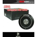 "MBQ AW-600D 8"" 100W RMS Round Underseat Subwoofer Made in Germany"