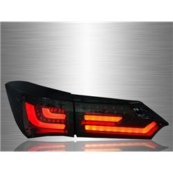 TOYOTA COROLLA ALTIS E170 2014 - 2017 Full Smoke LED Light Bar Tail Lamp [TL-237-3]