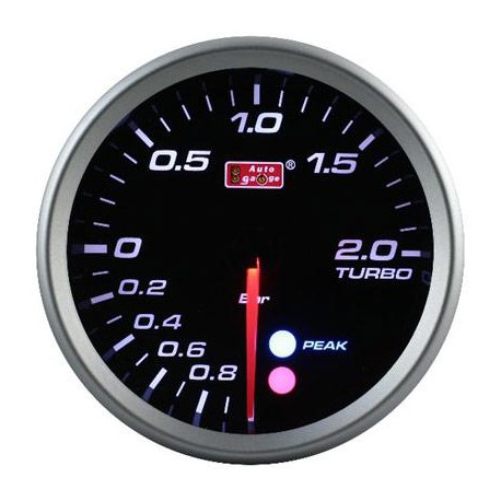 AUTOGAUGE 80mm Amber, White and Blue (Black Face) Boost Meter[561]