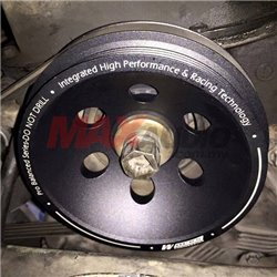 (MOST CARS) WORKS ENGINEERING USA T7 Aluminum Billet Racing Crank Pulley (More Power, More Fuel Saving)