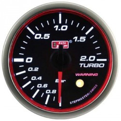 AUTOGAUGE 60mm Super White LED Angel Ring (Black Face) Boost Meter [651]