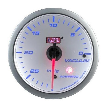 AUTOGAUGE 60mm Blue Racer (White Face) Vacuum Meter [514]