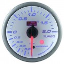 AUTOGAUGE 60mm Blue Racer (White Face) Boost Meter [513]