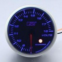 AUTOGAUGE 60mm Blue Racer (Black Face) Volt Meter [281]