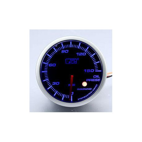 AUTOGAUGE 60mm Blue Racer (Black Face) Oil Pressure Meter [313]