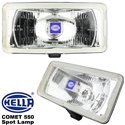 ORIGINAL HELLA COMET 550 Spot Lamp Light (White) with H3 Halogen Bulb Made in Germany (Pair)