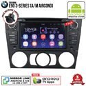 "BMW E90 3-Series Auto/ Manual Aircond SKY NAVI 7"" FULL ANDROID Double Din GPS DVD CD USB SD BLUETOOTH IOS Mirror Link Player"