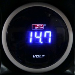 AUTOGAUGE 52mm Digital Blue LED Volt Meter [626]
