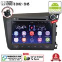 "HONDA CIVIC FB 2012 - 2015 SKY NAVI 8"" FULL ANDROID Double Din GPS DVD CD USB SD BLUETOOTH IOS Mirror Link Player"