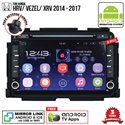 "HONDA HRV/ VEZEL/ XRV 2014 - 2017 SKY NAVI 8"" FULL ANDROID Double Din GPS DVD CD USB SD BLUETOOTH IOS Mirror Link Player"