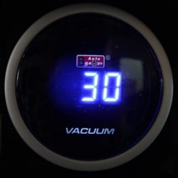 AUTOGAUGE 52mm Digital Blue LED Vacuum Meter [622]
