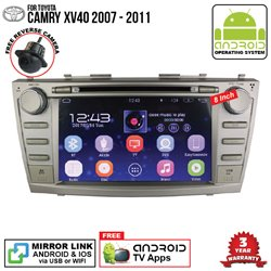 "TOYOTA CAMRY XV40 2007 - 2011 SKY NAVI 8"" FULL ANDROID Double Din GPS DVD CD USB SD BLUETOOTH IOS Mirror Link Player"