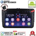 "MOST VOLKSWAGEN SKY NAVI 8"" FULL ANDROID Double Din GPS DVD CD USB SD BLUETOOTH IOS Mirror Link Player"