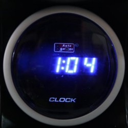AUTOGAUGE 52mm Digital Blue LED Clock [628]