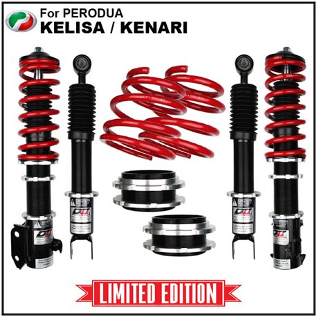 *Limited Edition* PERODUA KELISA, KENARI, DAIHATSU MOVE, GINO D2 JAPAN Front & Rear Adjustable Absorber Coil Over