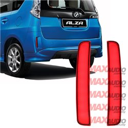 PERODUA ALZA Advance 2014 - 2017 Night Rider Sportivo Sequential Blinking Rear Bumper LED Light Reflector with Signal