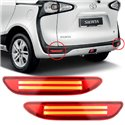 TOYOTA SIENTA 2015 - 2017 Rear Bumper Reflective Red LED Light Bar