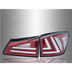 LEXUS IS250 IS350 2005 - 2012 Clear Red LED Light Bar Tail Lamp [TL-132-1]