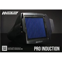 "(Universal Fitting All Cars) WORKS ENGINEERING MUGEN STYLE PRO INDUCTION 3.5"" Open Port Air Filter Intake System [W-PIK]"