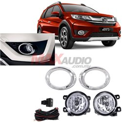 HONDA BRV 2015 - 2017 SAXO Plug & Play Fog Lamp Spot Light with Chrome Cover, Switch and Full Wiring Kit
