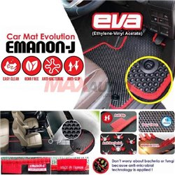 (MOST CARS) EMANON-J Ethylene Vinyl Acetate (EVA) Custom Made Anti-Slip Odor-Free Anti-Bacterial Car Floor Carpet Mat