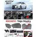 HONDA CITY GM6 2014 - 2018 NINJA SHADES UV Proof Custom Fit Car Door Window Magnetic Sun Shades (5pcs)