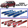 HONDA BRV Colored Red/ Blue DIY Plug and Play OEM Stainless Steel Door Side Sill Step Plate Garnish Made In Taiwan
