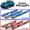 PERODUA BEZZA Colored Red/ Blue DIY Plug and Play OEM Stainless Steel Door Side Sill Step Plate Garnish Made In Taiwan