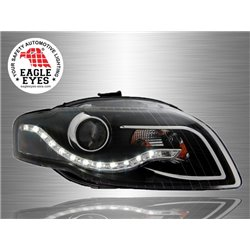 AUDI A4 B7 2005 - 2007 EAGLE EYES LED Starline Black Housing Projector Head Lamp [HL-113]