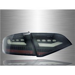 AUDI A4 B8 2009 - 2012 CLEAN BLACK LED Tail Lamp [TL-220-1]