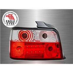 BMW E36 3-Series 2 Door 1991 - 1999 EAGLE EYES Red Clear LED Tail Lamp [TL-016-BMW]