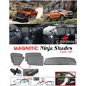FORD RANGER T6 T7 2011 - 2018 NINJA SHADES UV Proof Custom Fit Car Door Window Magnetic Sun Shades (5pcs)