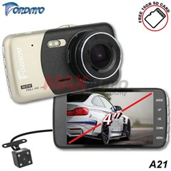 "FORDAYO JAPAN A21 4"" Full HD 1080P Car Dash Camera Driving Video Recorder DVR with Rear View Reverse Camera [Free 16GB SD Card]"