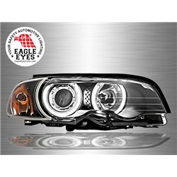 BMW E46 3-Series 2 Door 1998 - 2001 EAGLE EYES CCFL LED Light Ring Projector Head Lamp [HL-007-BMW-2]