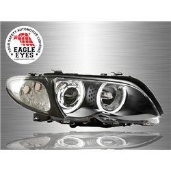 BMW E46 3-Series 4 Door 2002 - 2005 EAGLE EYES CCFL LED Light Ring Projector Head Lamp [HL-022-BMW]