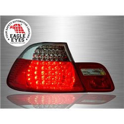 BMW E46 3-Series 4 Door 1998 - 2001 EAGLE EYES Red Smoke Lens LED Tail Lamp [TL-063-BMW]