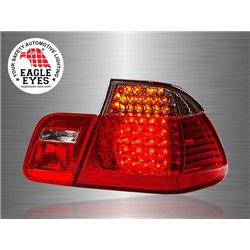 BMW E46 3-Series 2 Door 2002 - 2005 EAGLE EYES Red Clear Lens LED Tail Lamp [TL-066-BMW]