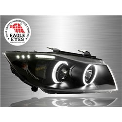 BMW E90 3-Series 2004 - 2008 EAGLE EYES CCFL LED Light Ring Projector Head Lamp [HL-020-BMW]