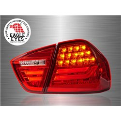 BMW E90 3-Series 4 Door 2004 - 2008 EAGLE EYES Red LED Light Bar Tail Lamp [TL-022-BMW-3]