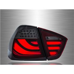BMW E90 3-Series 4 Door 2004 - 2008 Red Smoke LED Light Bar Tail Lamp [TL-067-BMW]