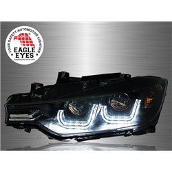 BMW F30 3-Series 2011 - 2017 EAGLE EYES U-Concept LED Angle Eyes Projector Head Lamp [HL-026-BMW]