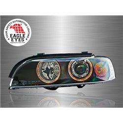 BMW E39 5-Series 1995 - 2003 EAGLE EYES LED Light Ring Projector Head Lamp [HL-005-BMW]