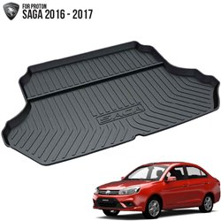 PROTON SAGA 2016 - 2017 ORIGINAL ABS Rubber Anti Non Slip Rear Trunk Boot Cargo Tray