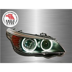 BMW E60 5-Series 2003 - 2010 EAGLE EYES CCFL LED Light Ring Double Projector Head Lamp [HL-021-BMW]